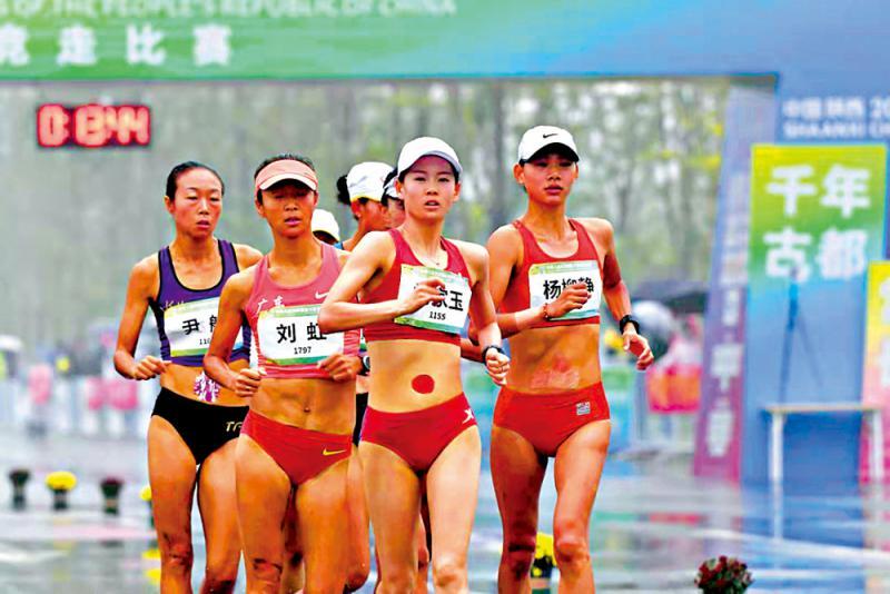 杨家玉蝉联竞走金牌
