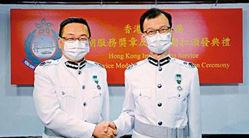 郭俊峯升任入境处副处长 陈天赐荣休