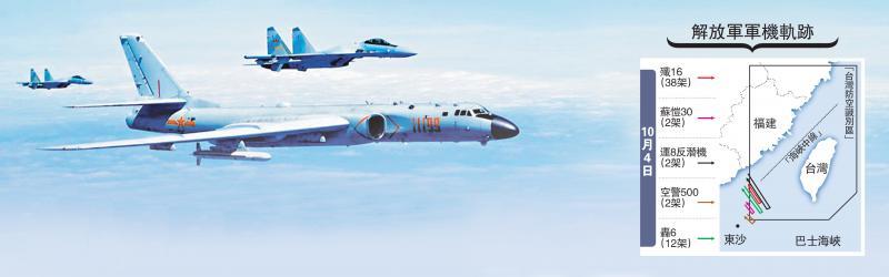 4天149架军机 解放军演练台海作战