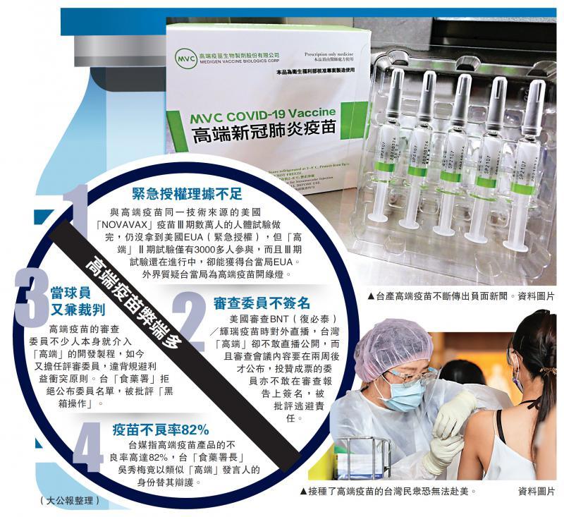 美国不承认台湾产疫苗超70万人白打 民众吁停止接种