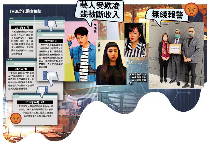 黑色网暴重临无差别欺凌艺人 TVB敦促警方执法