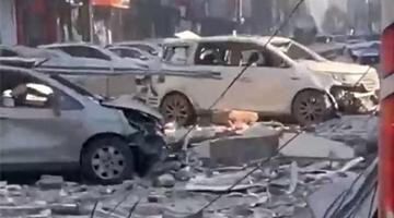辽宁沈阳一饭店发生燃气爆炸 现场一片狼借伤亡不明