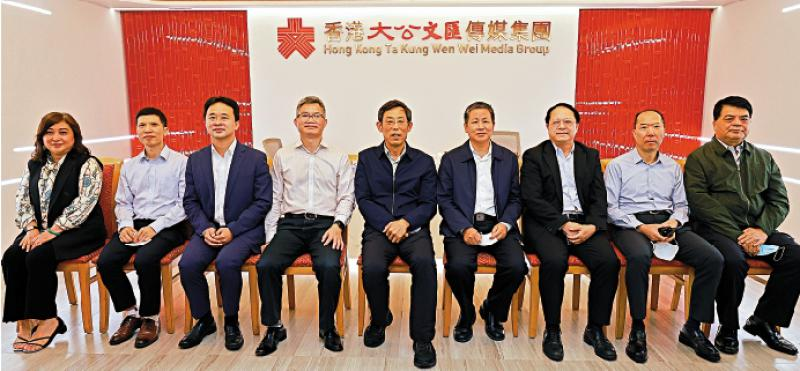 中石化香港代表处一行 到访大公文汇传媒集团