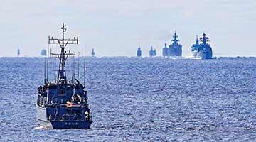 中俄舰群巡航万吨大驱领军 穿越第一岛链摸底战略咽喉