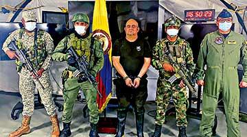 哥伦比亚最大毒枭落网 出动500士兵及22架直升机搜捕