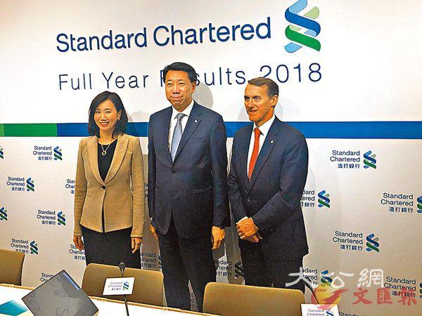 渣打冀未来3年派息倍增 公布新3年计划 股东权益回报10%