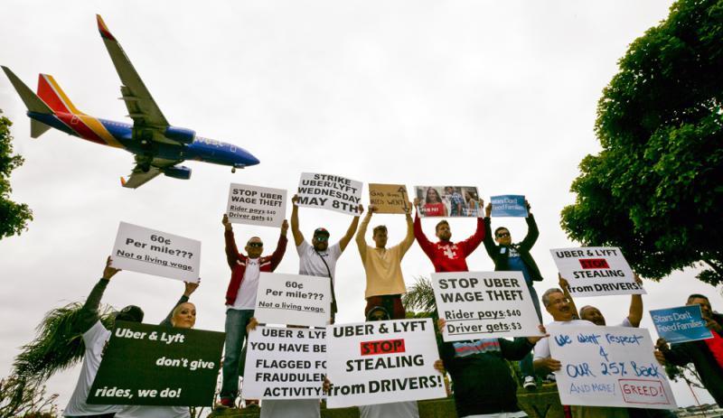 Uber上市前夕 英美司机大罢工抗议高服务费低薪资