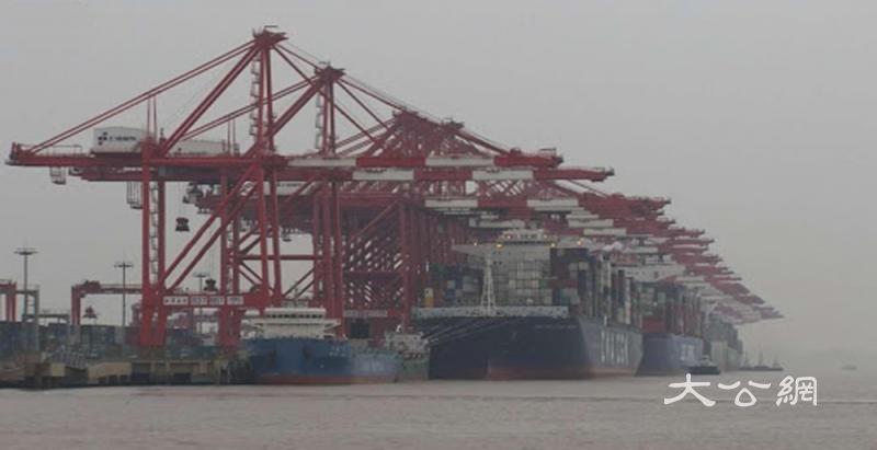 洋山港国际货船流量超去年同期
