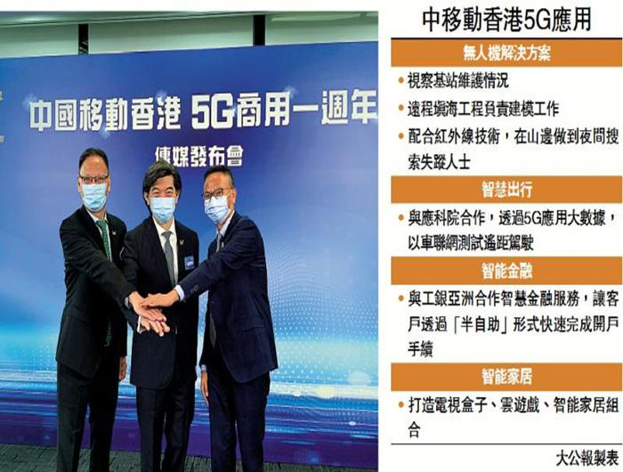 中移动香港:完善5G应用 推动智慧城市发展