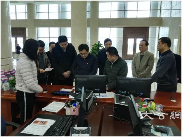 江西省民宗局曹国庆局长到行政中心调研政务服务工作