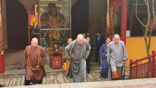 湖南佛協會領導到嶽陽、常德、益陽有關寺院進行調研指導
